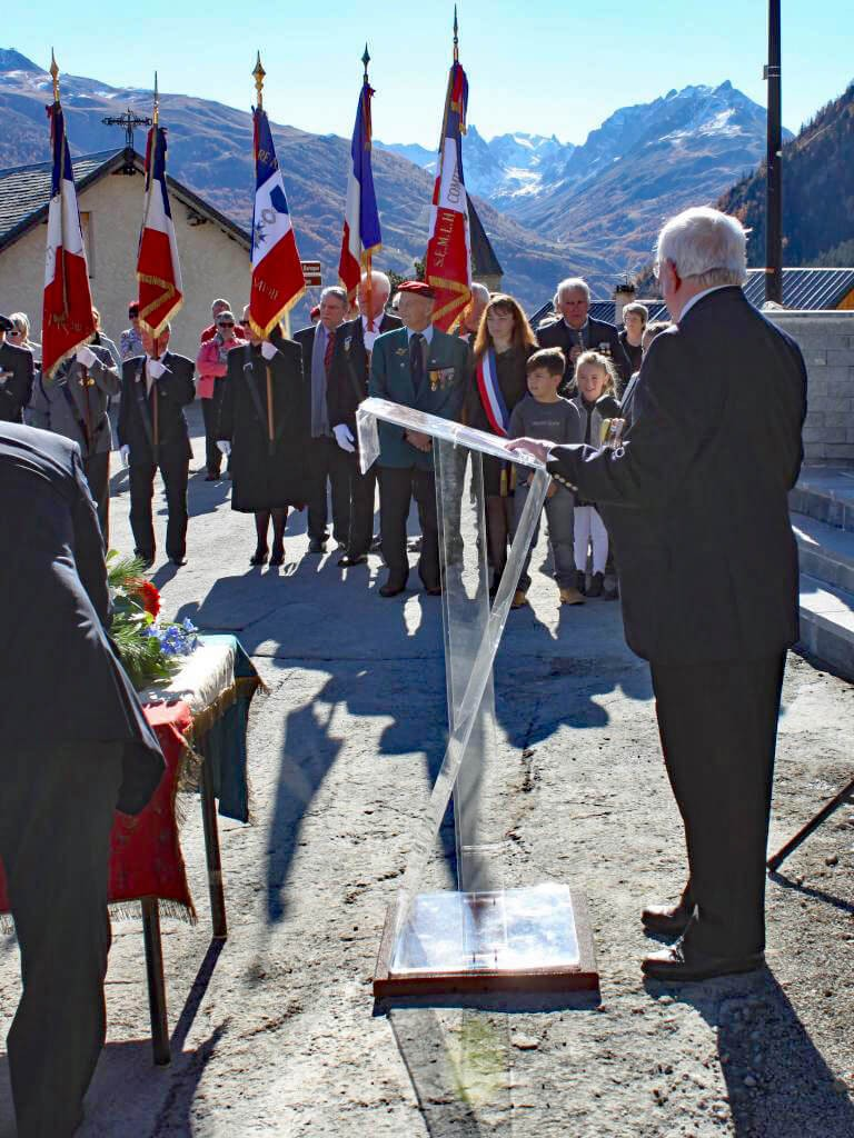 Inauguration Monument aux morts Albanne