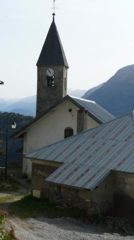 Eglise d albanne automne